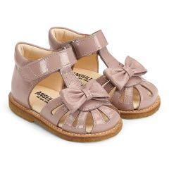 Lauflern-Sandale mit Schleife und Klettverschluss