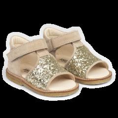 Lauflern-Sandale mit offenem Zeh und Klettverschlu