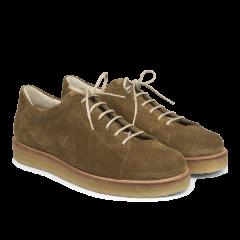 Sneaker mit Plateausohle und Lochmuster