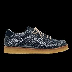 Sneaker mit Glitzer und Plateausohle