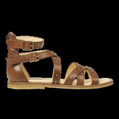 Sandale mit Nieten und Reißverschluss
