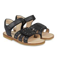 Sandale mit Klettverschluss und Nieten