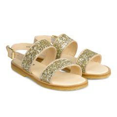 Sandale mit Schnalle und Glitzer