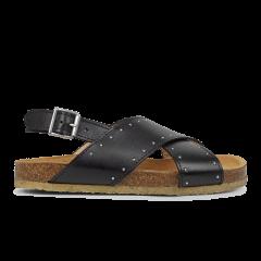 Sandale mit weichem Fußbett und Nieten