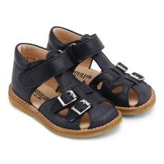 Lauflern-Sandale mit Klettverschluss und Schnallen