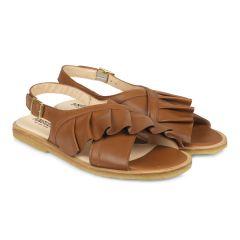 Sandale mit Rüschen