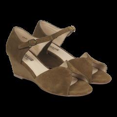 Keilabsatz-Sandale mit Schnalle
