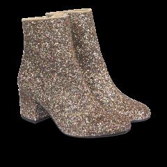 Glitzer-Stiefel mit Blockabsatz
