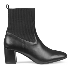 Block heel boot with elastic
