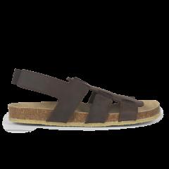 Sandale mit Fußbett und Gummizug
